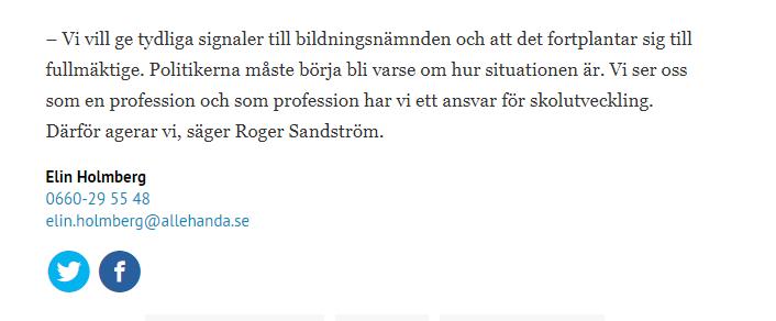 Allehanda Roger Sandström